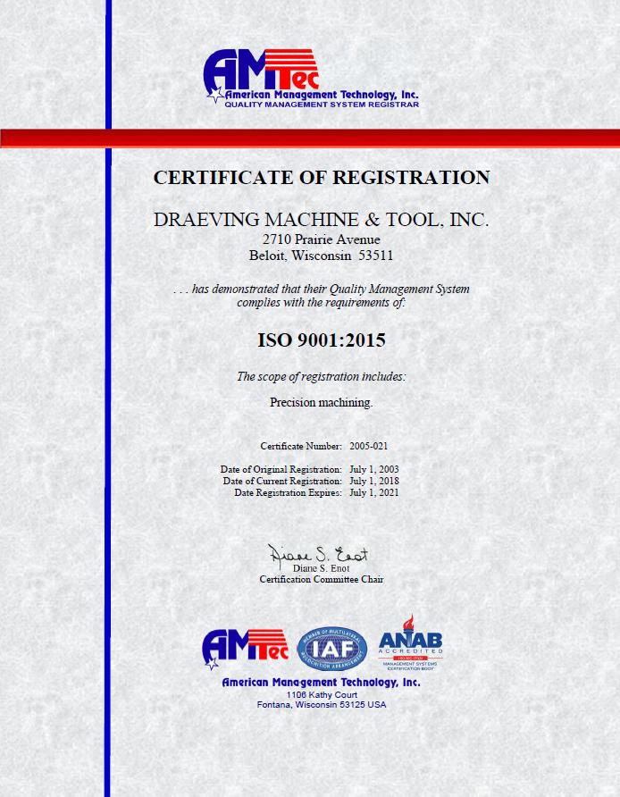 DMT ISO CERT